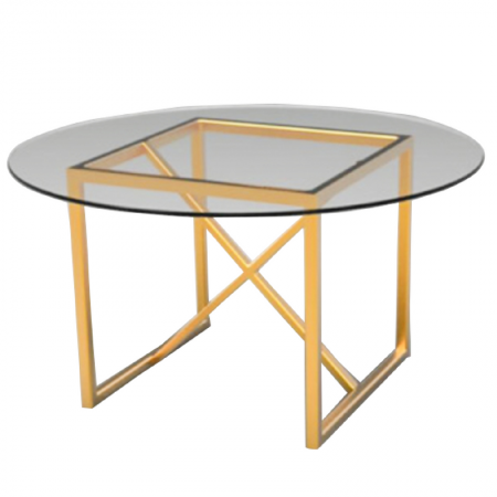 Round Table 95841.Fitzgerald Round Brass Theoni Collection