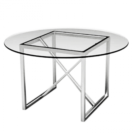 Round Table 95841.Fitzgerald Round Platinum Theoni Collection